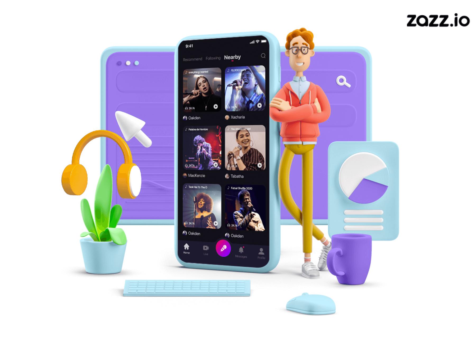 clubhouse app development zazz